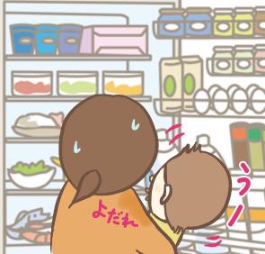 冷蔵庫を見たがるせんぶぅ