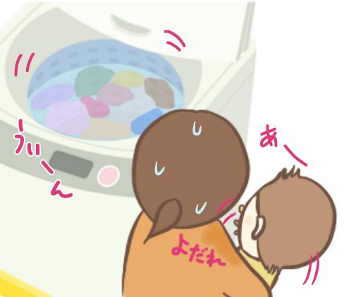 洗濯機を見たがるせんぶぅ