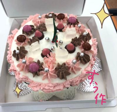 すぅが作ったケーキ