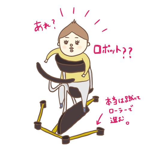 歩行器で歩行訓練をするせんぶぅ